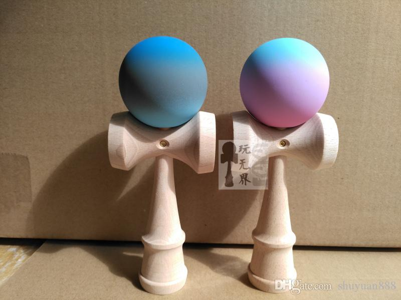 High quality Three-color gradient rubber Paint Kendama Ball toy Skillful Juggling Game Ball Japanese Traditional Toy Balls Educational Toys