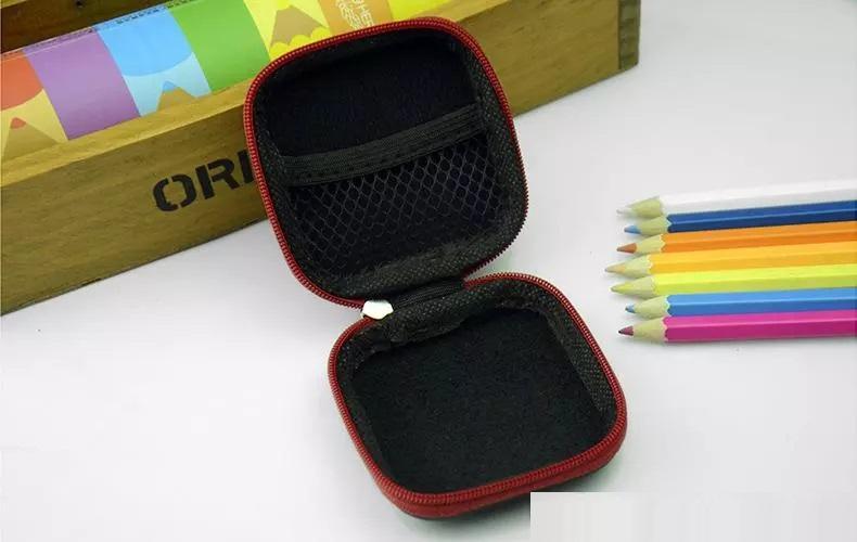 2017 Square Eva Przypadki Wodoodporna Fidget Spinner Pudełka Multi Funkcja Container Case do Ręcznie Spinner Torby Kolorowe pudełko Przenośne 1 7gm 7,5 cm