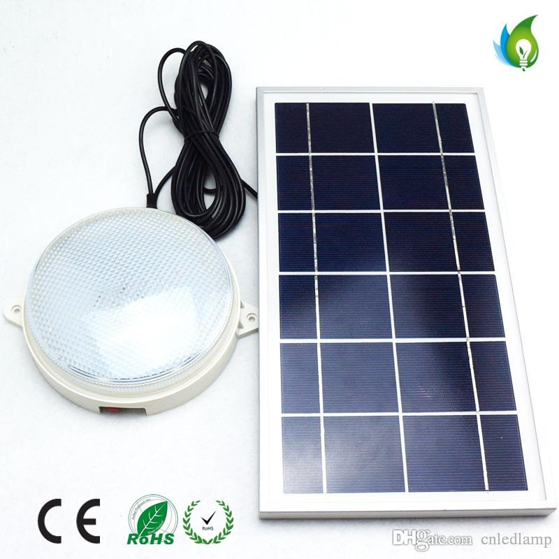 8w solar ceiling light with remote control and optical sensor round 8w solar ceiling light with remote control and optical sensor round shape for outdoor and street lighting oed 1615 y outdoor solar lamps landscape solar mozeypictures Gallery