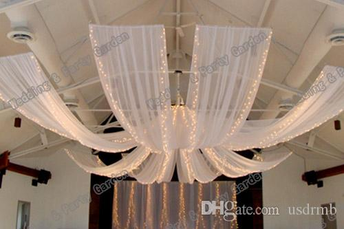 Good Wedding Ceiling Drape Canopy Drapery For Decoration Wedding Fabric 0.7m*12m  Piece Roof Polyester Knitted Fabric Dinosaur Party Supplies Disco Party ...