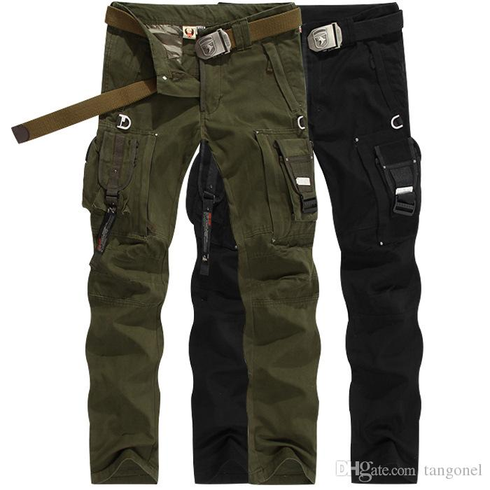 Military Uniform Mens Black Pants Casual Multi Pocket Cargo Trousers Male  Large Size 38 Army US Tactical Combat Pants UK 2019 From Tangonel 66f0599a725