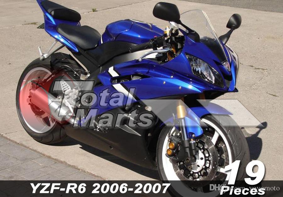 Carenado para Yamaha YZF-R6 YZF R6 06 07 2006 2007 Inyección Rojo FD6127 Blanco FD6126 Negro FD6114 Azul FD6124 Verde FD6128