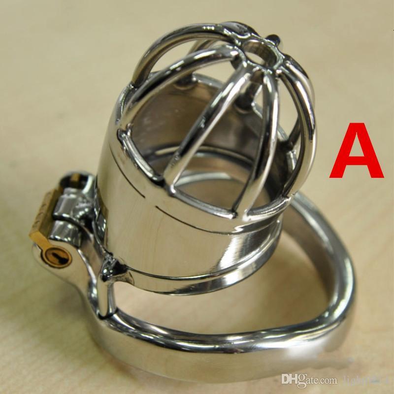 In acciaio inox maschio gabbia di castità catetere tubo anti anello piccolo gabbia d'acciaio gabbia cazzo dispositivo di castità prodotti del sesso gli uomini gioco g197