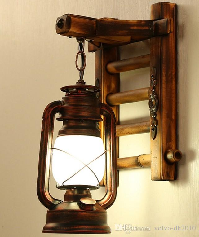 Large Wall Sconces Elements Decoration 2019 AC100 240V Chinese Style Novelty Bamboo Ladder Wall Lamps Creative  Barn Lantern Bronze Wall Lightings E27 Sconce Decor Lighting LLFA From  Volvo Dh2010, ...