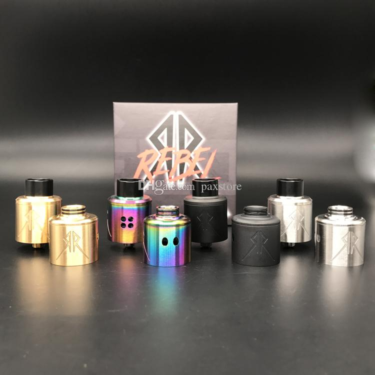 Recoil Rebel Atomizer RDA Clone Vape Tank 25mm Gold Plated 510 Pin Electronic Cigarette for Wholesale DHL FREE