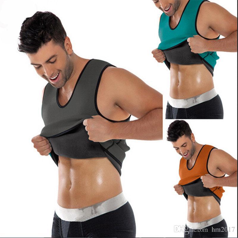 087f89085ff4a 2019 Slimming Belt Belly Men Slimming Vest Body Shaper Man Neoprene Abdomen  Thermo Tummy Shaperwear Waist Sweat Corset Weight Loss From Hm2017