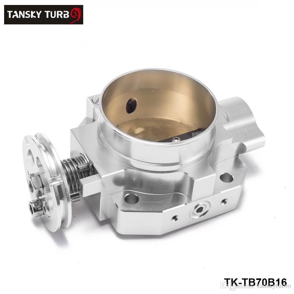 TANSKY - Aluminum Silver Intake Manifold 70mm Throttle Body For Honda B16 B18 D16 F22 B20 D/B/H/F EG EK H22 TK-TB70B16