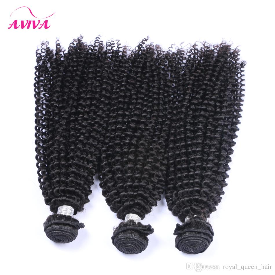 Brezilyalı Kıvırcık Bakire Saç Örgü Demetleri Işlenmemiş Brezilyalı Afro Kinky Kıvırcık Remy İnsan Saç Uzantıları 3 Adet Doğal Siyah Yumuşak Tam