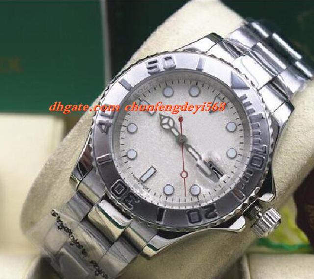 Mode 116622 Herren Edelstahl Platin 40 MM Platin Zifferblatt Automatische Bewegung Männer Uhren Top Qualität