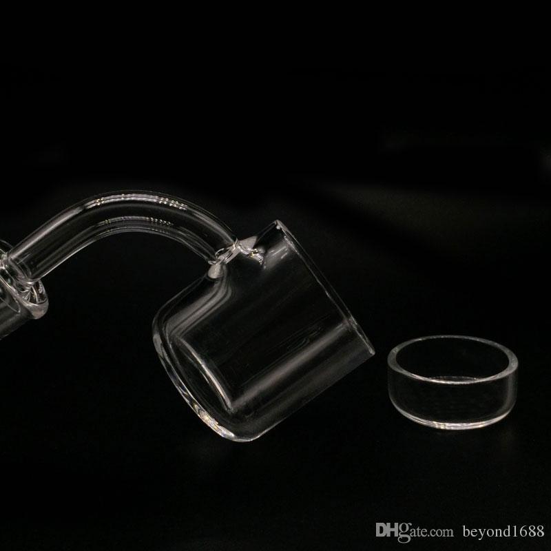 3mm thick 35mm OD XXXL flat top quartz banger nail with Removable insert Drop Honey Bucket Quartz Thermal Banger Nail For Glass Bongs