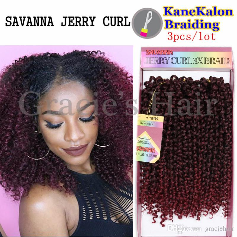 2018 10inch Ombre Kinky Curly Hair Weaves Synthetic Hair Extensions