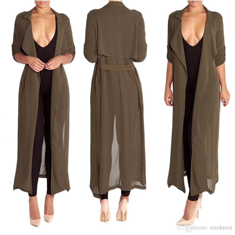 Raodaren Autunno Blusas Donne Camicette allungate Retro mezza manica Casula Camicia lunga allentata Cardigan 2017 Estate Sunblock Top Plus Size