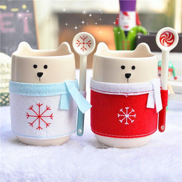 Winter New Genuine Starbucks Christmas Scarf Bear Mug 8oz