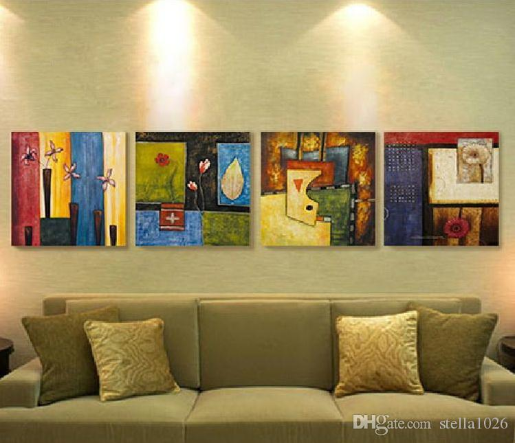 2017 Decorative Painting Living Room, Modern Frameless Painting, Bedroom  Background Wall Painting, Abstract Triple Painting, Hanging Painting From  ...