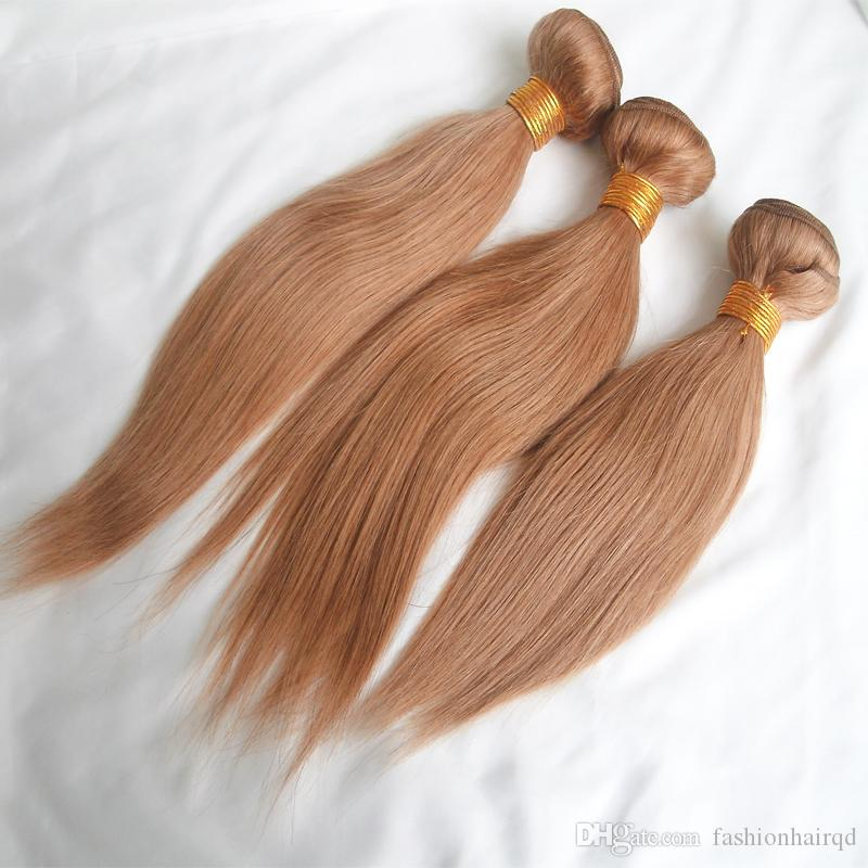 Brazilian Straight Hair Weaves Cheap Honey Blonde Virgin Remy Human Hair Bundles Extensions 10-26 inch