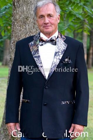 Abito da uomo su misura Camouflage Uomo Abiti da sposa Camo Abiti da sposo Abiti da ballo Cappotto + Pantaloni