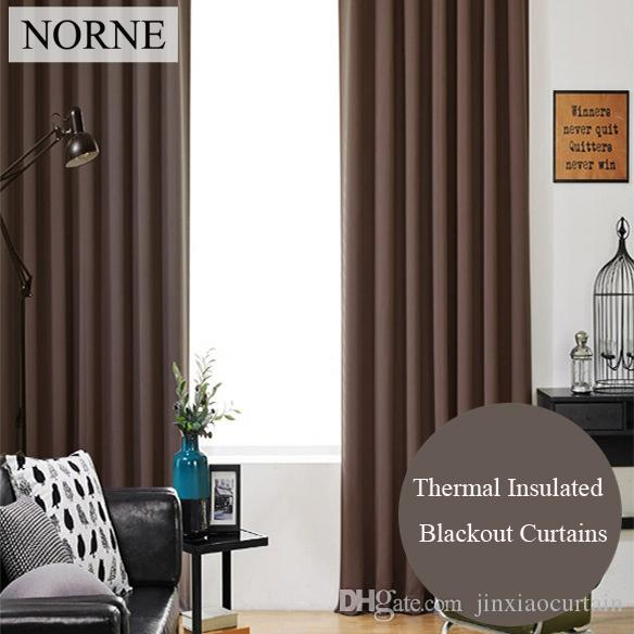 2019 Norne Room Darkening Thermal Insulated Blackout Curtains Noise
