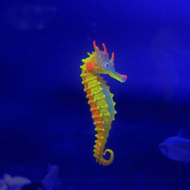 جديد الاصطناعي الحوض البحر الحصان الحصين حلية الأسماك خزان قنديل ديكور أحواض السمك ديكورات شحن مجاني