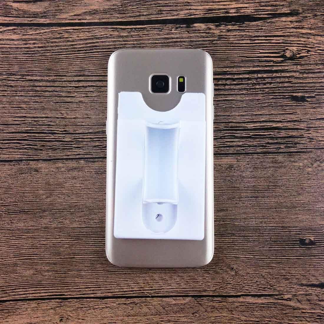 UI 3 mt Aufkleber Silikon Brieftasche Zurück Kreditkarte Ständer Halter Handyhalter Für handy silikon kartentasche mit stand halter 1 stücke