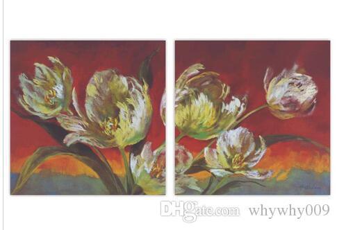 Dipinti Per Soggiorno : Acquista pannelli pittura a olio astratta soggiorno i fiori wall