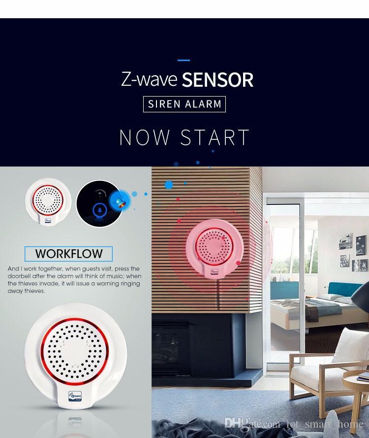 EU 868.42MHz Z-wave Wireless Siren Alarm Sensor Compatible with Z wave Plus Sensor Alarm Home Automation Alarm