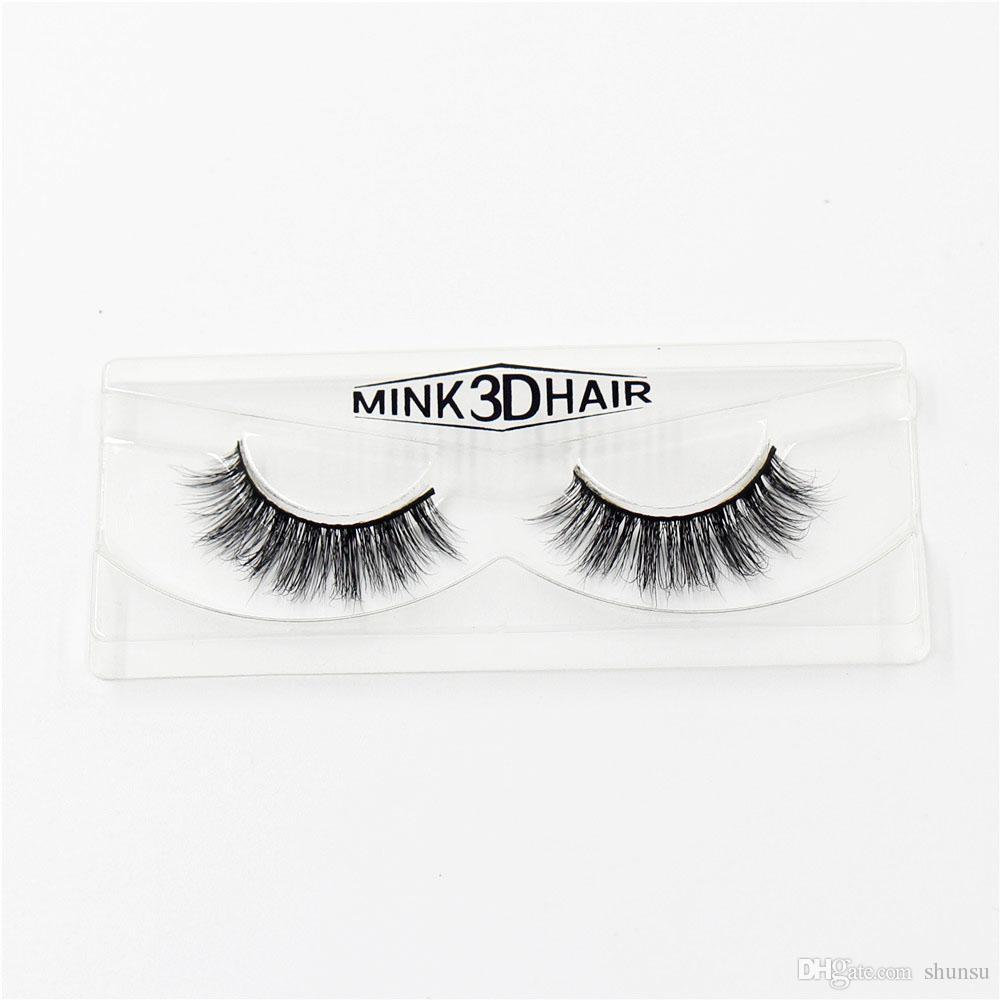 3D Nerz Wimpern Falsche Wimpern Natürliche Make-Up Wimpern Wimpernverlängerung Bilden echte sibirische nerz streifen wimpern A02