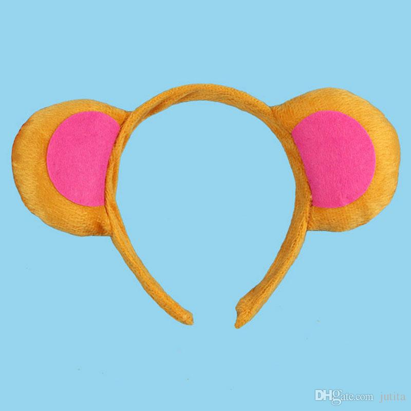 2017 Animal Monkey Ear Headband for Kids Children Hair Accessories Birthday Party Halloween Cosplay Christmas Gift