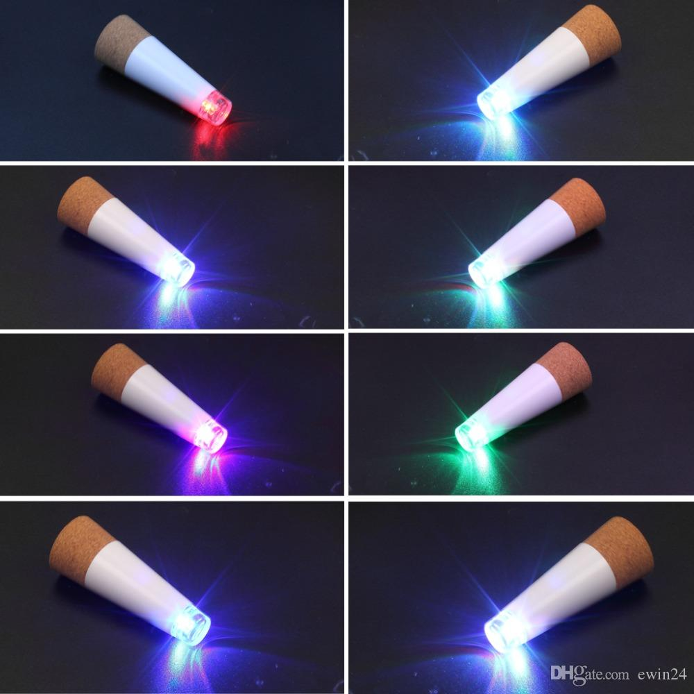 Fashion Protable USB LED Bottle Light Cork Stopper Rechargeable Lamp Creative Decoration Bright White or Multi Color
