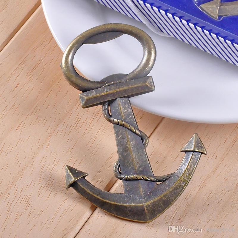الشحن مجانا خمر العتيقة نمط بحري السفن قارب مرساة البيرة فتاحة زجاجات عرس الحسنات هدايا WA2028