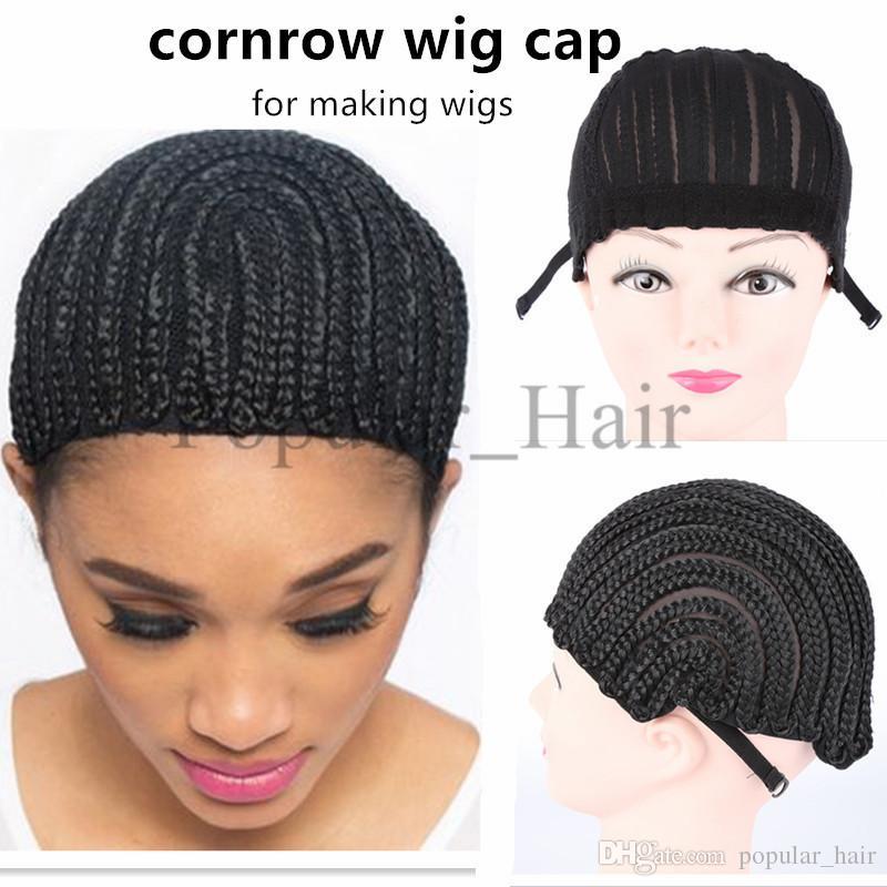 Wholesale Cornrow Wig Cap For Making Wigs Adjustable Braided Wig Cap  Weaving Cap Stocking Wig Making Tools Black Nylon Hairnets Diy Wig Cap Wig  Cap ... ae7ff0b1e53a