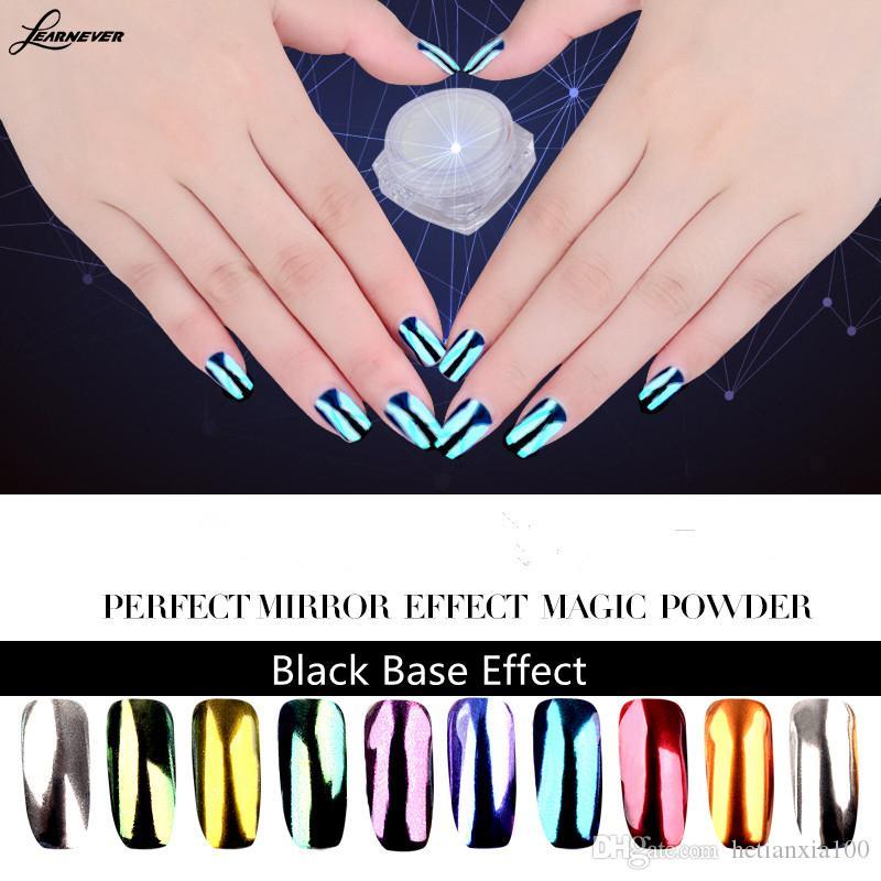New Metallic Magic Mirror Chrome Effect Dust Nail Art Powder Nail ...