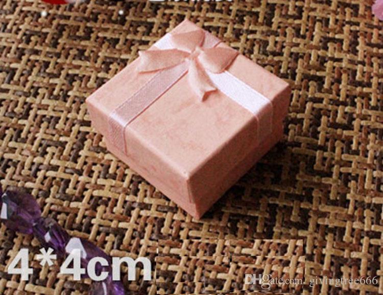 Epack portagioie scatole regalo anello perline scatola formato 4x4x3 cm scegli i
