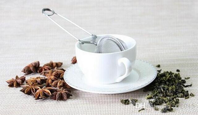 الجملة فضفاض الربيع المقاوم للصدأ ملعقة الشاي شبكة الكرة المساعد على التحلل تصفية ملعقة صغيرة مصفاة الزفاف الإحسان هدية شحن مجاني