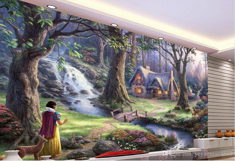3d stereoscopic wallpaper luxus Fairy tale landscape painting background wall custom wallpaper mural