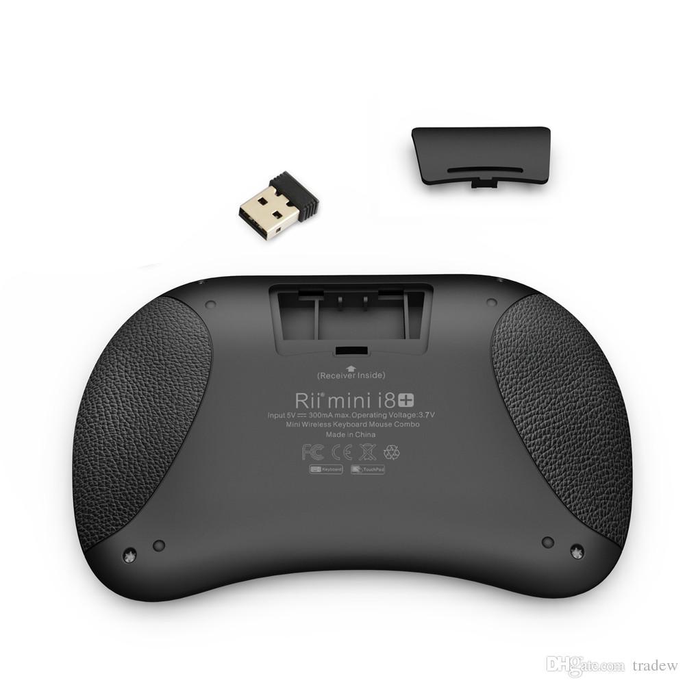 Mini Klavye Arkadan Aydınlatmalı Fare Çoklu dokunmatik Ped 2.4G Rii i8 + Kablosuz Oyun Klavye Fly Air Fare Uzaktan için MXQ Andriod TV Kutusu IPTV