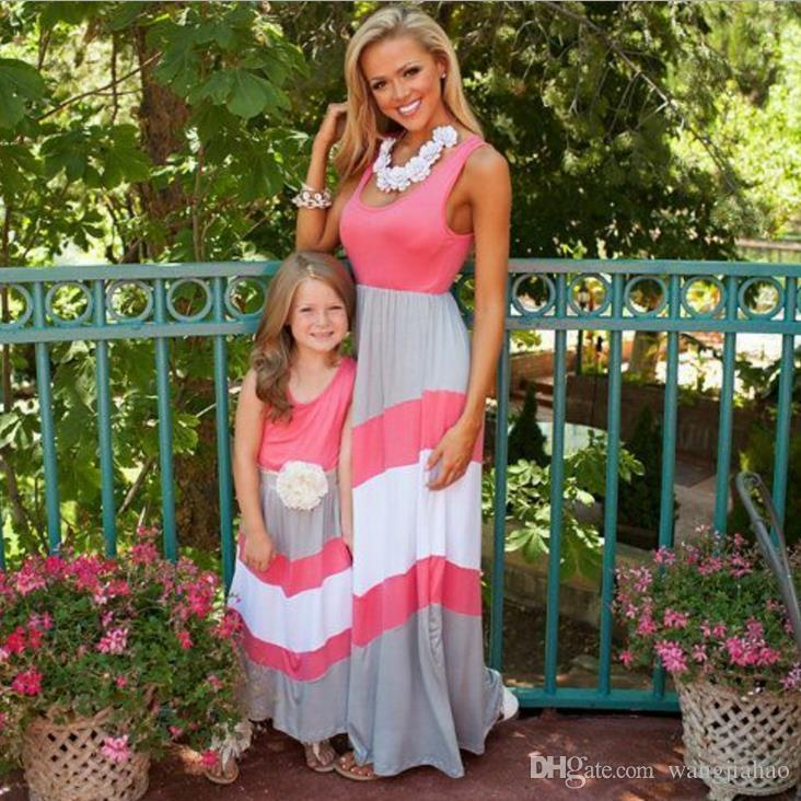e0bbd8d71 Mother Daughter Dresses Clothes Family Mom Daughter Matching Dresses ...