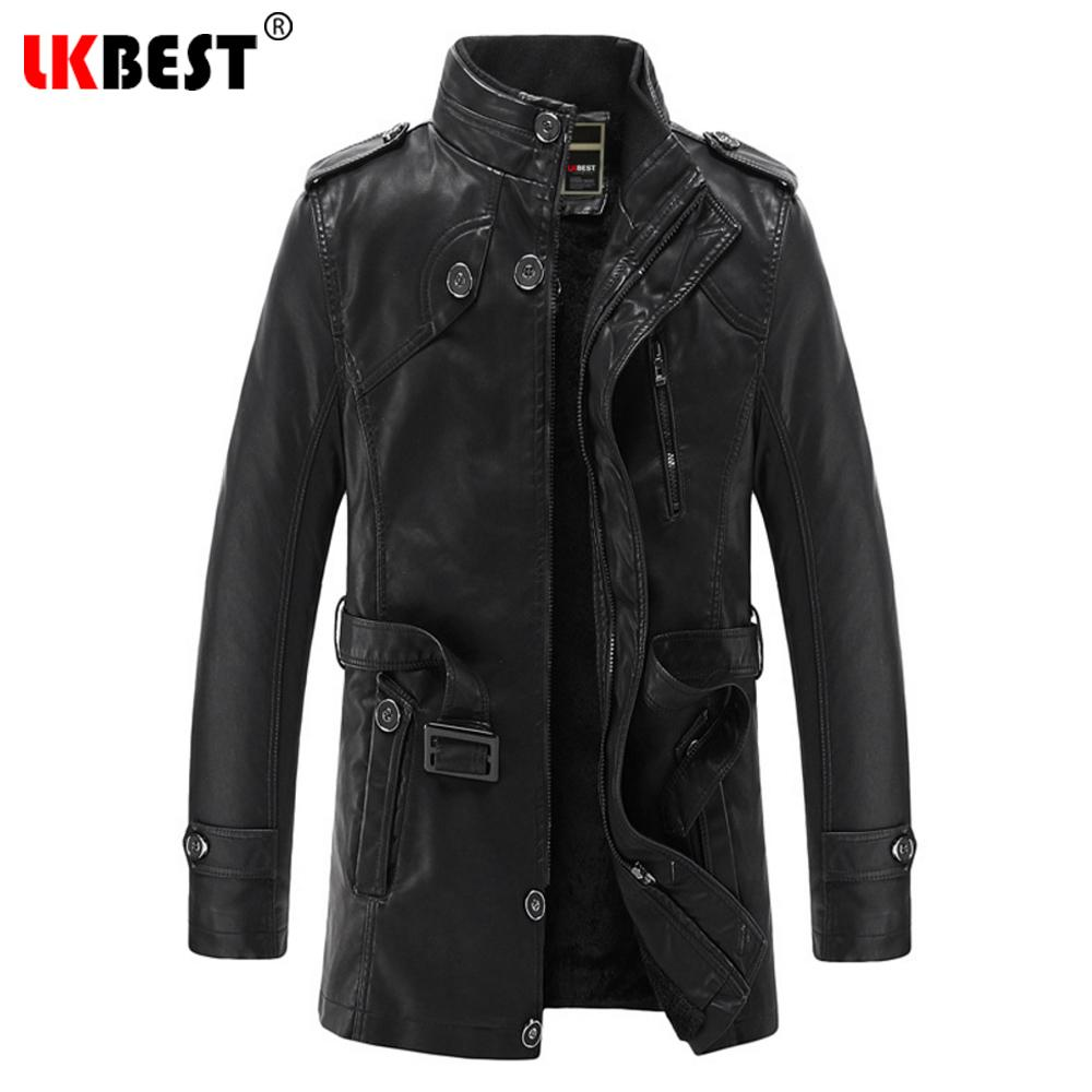 d6253c738d0 2019 Wholesale LKBEST 2017 New Long Male Leather Jacket Punk Warm Mens  Leather Jackets Coats Casual Motorcycle Jacket Brand Outwear PY20 From  Maoyili