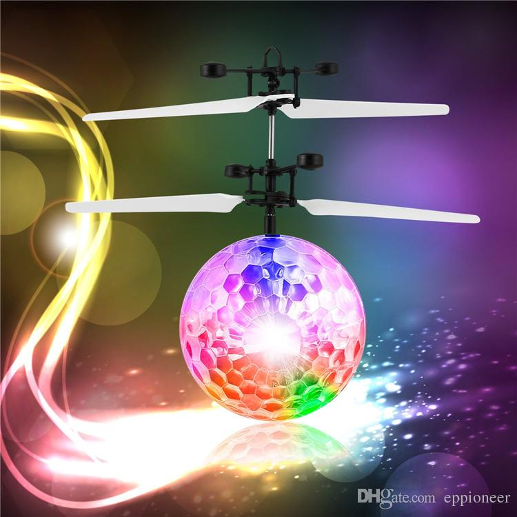 Flying Ball, Children Flying Toys RC infrared Induction Helicopter Ball Built-in Shinning Color Changing LED Lighting for Kids ,Teenagers