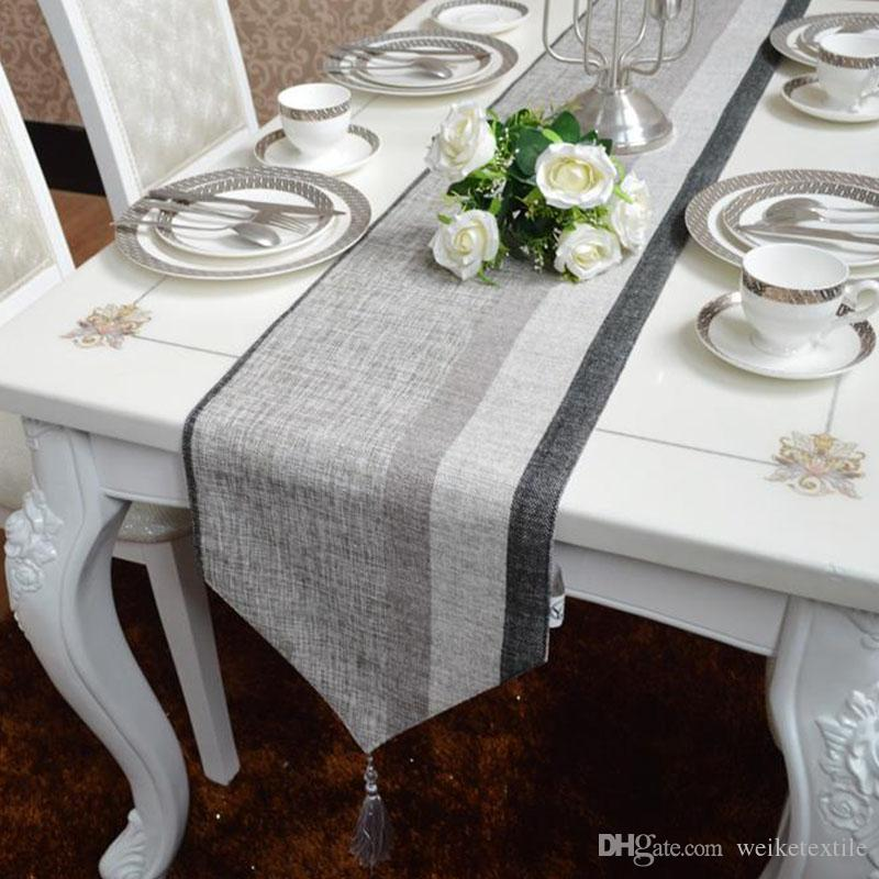 European Style Table Flag,Simple Modern Dark Grey Table Cloth,Chenille  Silver Blended Stripe Coffee Cloth,Other Size Can Be Customized Buy Table  Linens ...