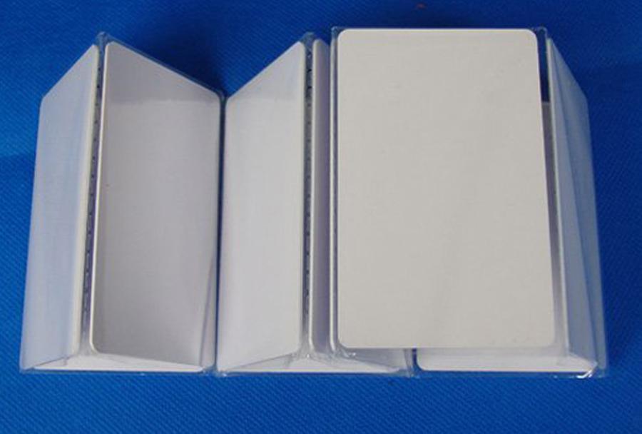 200 шт. / лот ATMEL T5577 / t5557 пустой тонкий ПВХ бесконтактная карта перезаписываемые RFID 125 кГц
