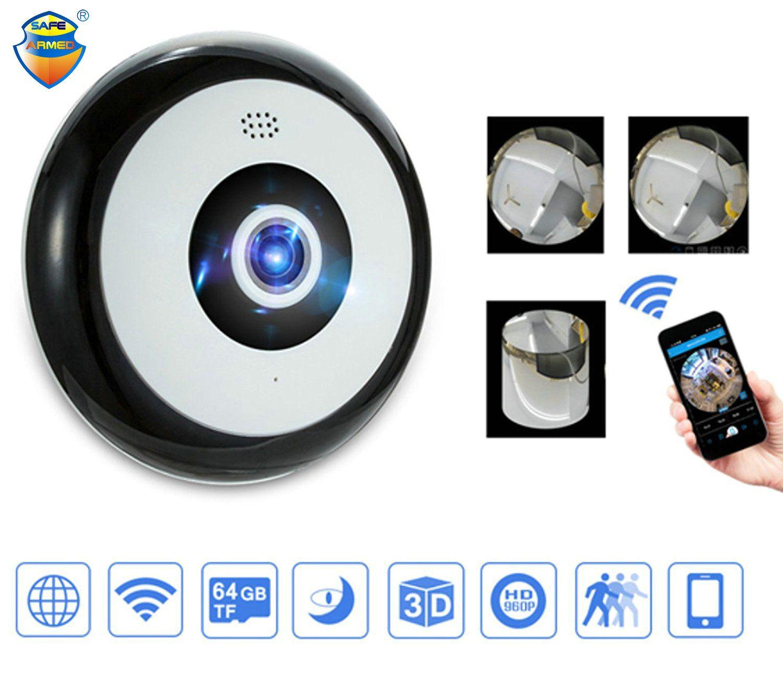 6a592f5e111 Mini HD 960P Wireless Wifi IP Camera 360 Degree Panoramic Fisheye 1.3MP Security  Camera Support Phone APP Control Network Cctv Camera Network Ip Camera From  ...