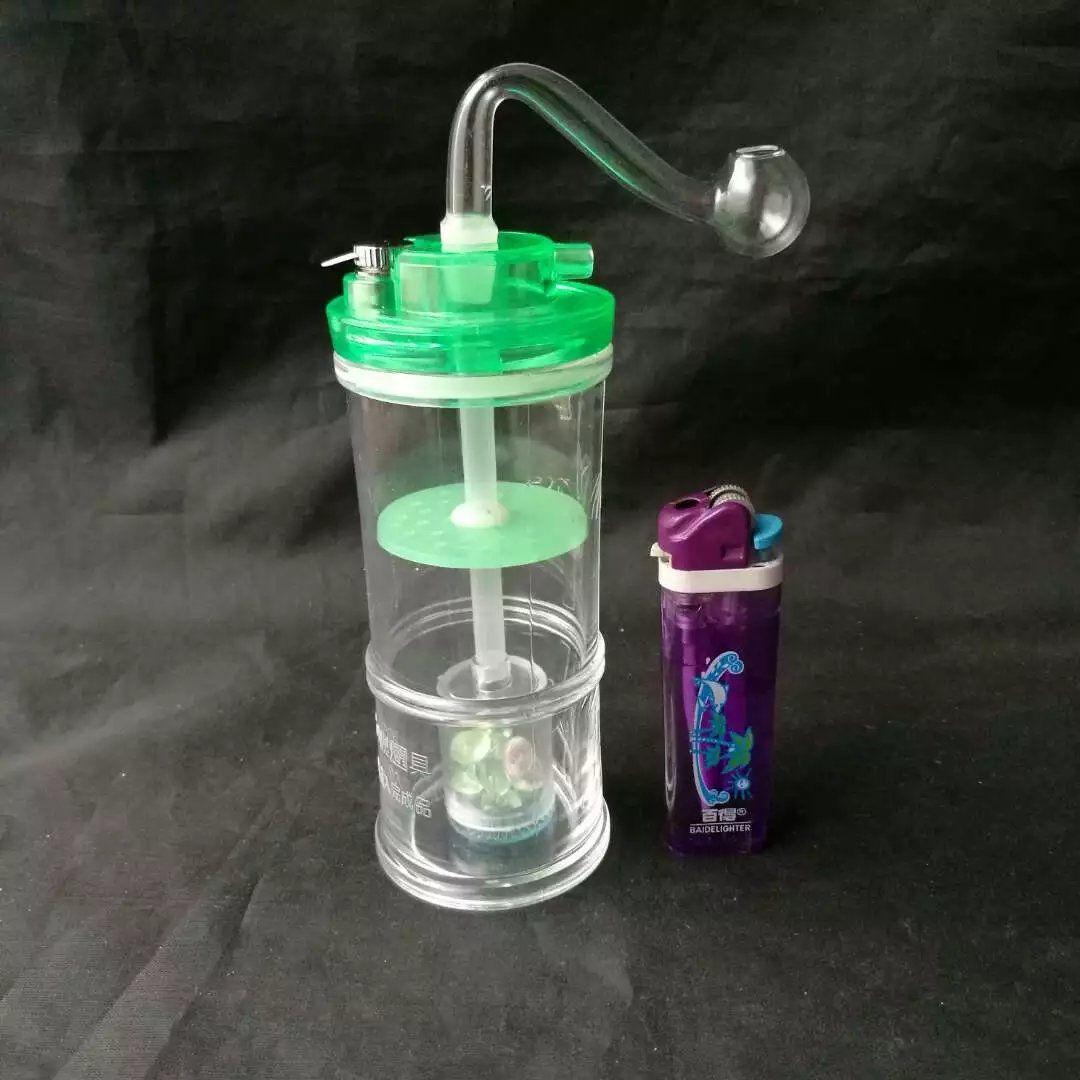 Renk Akrilik Nargile - cam nargile sigara boru Cam gong - petrol kuleleri cam bongs cam nargile sigara borusu - vap buharlaştırıcı