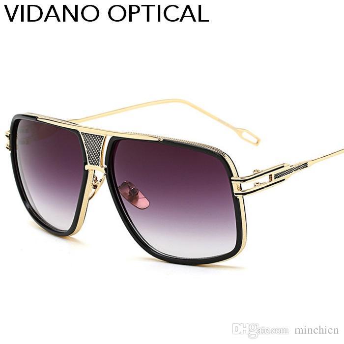 808ba92bf2a6 Vidano Optical New Arrival Big Pilot Sunglasses Classic Retro Women ...