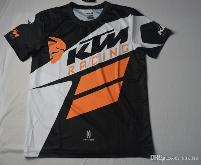 2017 Yeni Varış erkek Rahat KTM Motosiklet Tişörtlü Jersey Kısa Kollu havayolu Jersey Motocross DH Yokuş Aşağı MX MTB Nefes Off-Yol XXL