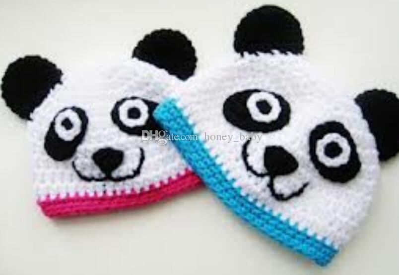 Panda Beanie Animal Sombrero Bebé Niños Niñas Gorra de invierno Punto de  ganchillo Capó Niño Recién nacido Infantil de Navidad Hallowmas Beanie ...