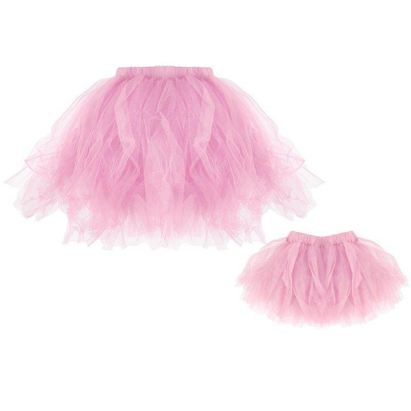 Infant Parent-Child/Baby Tutu Skirts Baby Girls Chiffon Princess Pettiskirts Kids Petticoat Family Matching Outfits
