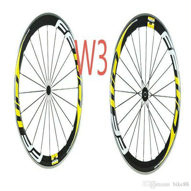 2018 new style carbon bike wheels white yellow decal FFWD F6R 60mm road bike wheels alloy braking glossy 700C taiwan carbon wheels in stock