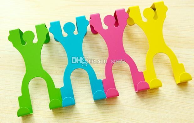 100pcs Housekeeping Hot Cute Stainless Steel Over the Door Dual Hanger Hook Hat Coat Holder