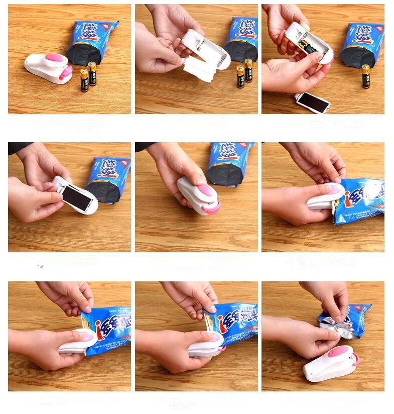 Bag Heat Sealer Mini Heat Sealing Machine Impulse Sealer Seal Packing Plastic Bag Kit for Food Saver portable travel hand pressure