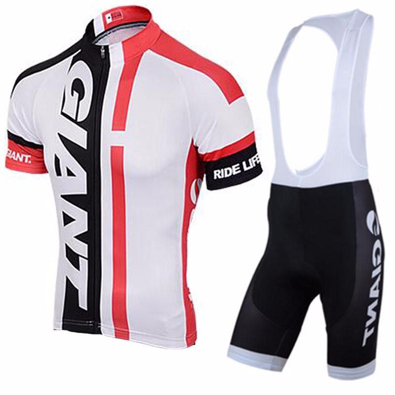 Neue Pro Team Riese Mens Radfahren Kleidung Ropa Ciclismo Radfahren Jersey Radfahren Kleidung Kurzarm Shirt + Bike Latzhose Set C0134